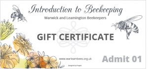 Introduction to Beekeeping Gift Certificate